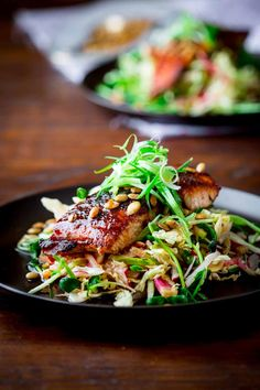 This Jerk Spice Salmon with Hot and Sweet Slaw is on the best of Healthy Seasonal Recipes! It's Paleo, Gluten-free and will boost your metabolism! Clean Eating Meal Plan, Clean Eating Recipes, Healthy Eating, Cooking Recipes, Healthy Recipes, Simple Recipes, Cooking Ideas, Salmon Recipes, Fish Recipes