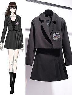 Bản Phác Hoạ draft - SeoulSugar Girls Fashion Clothes, Kpop Fashion Outfits, Ulzzang Fashion, Stage Outfits, Korean Outfits, Cute Fashion, Stylish Outfits, Cool Outfits, Dress Design Sketches