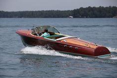The launching - 1963 Riva Aristion, Lake Martin...July 4th