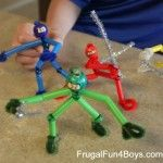 Pipe Cleaner Ninjas - so easy and endless entertainment