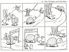 sequence worksheet fables of tortoise and hare Story Sequencing Pictures, Story Sequencing Worksheets, Sequencing Activities, Sequencing Cards, Picture Story Writing, Picture Story For Kids, Picture Writing Prompts, Story With Pictures, Picture Books