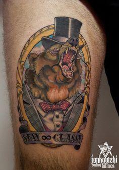 jankowzki bear tattoo neo traditional
