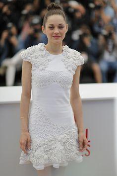 5/28/13: Marion Cotillard, in Alexander McQueen pre-fall, at Cannes.