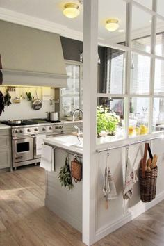 french window room dividers, storage solutions, gas range