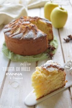 Soft apple pie with cream and lemon - Nutella 2019 Apple Pie Recipes, Sweet Recipes, Cake Recipes, Dessert Recipes, Desserts, Nutella Dip, Italian Pastries, Torte Cake, Savarin