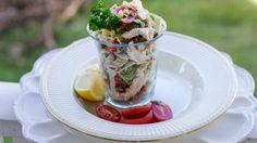 Salade met kip en spruitjes (engels)