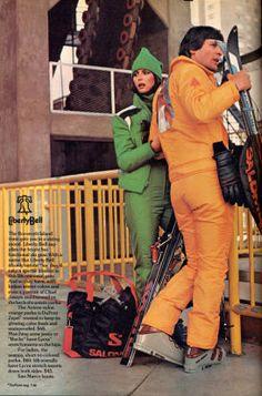 Timeless Style: Ski Fashion from the Ski Fashion, Retro Fashion, Winter Fashion, Sporty Fashion, Fashion Women, Ski Magazine, Winter Suit, Ski Gear, Indian Colours