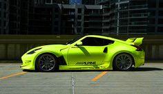 Fluorescent Yellow Neon Nissan Z