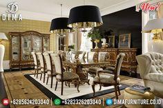 Harga Meja Makan Klasik Jati Natural Salak Brown Luxury Design Inspiring BT-0837