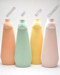 Lotion Bottle Vase in Pastel Colours Bottle Vase, Water Bottle, Walt Disney, Butter Mints, Eco Brand, Pastel Colors, Soft Pastels, Beauty Packaging, Recycle Plastic Bottles