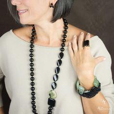 Fabric Jewelry, Wire Jewelry, Beaded Jewelry, Jewelery, Handmade Jewelry, Lariat Necklace, Gemstone Necklace, Diy Jewelry Tutorials, Jewelry Design
