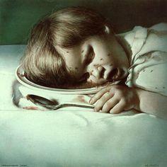 "Hyper-realistic Austrian Artist Gottfried Helnwein (1948) - ""Lebensunwertes Leben"" (""Life Unworthy of Life""), 1979."