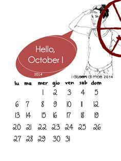 Hello October by i disegni di mae #calendar #illustration #graphicdesign