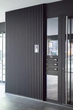I need this good-looking garage doors brick house Door Gate Design, House Gate Design, Garage Door Design, House Doors, Facade House, Gate House, House Wall, Modern Garage Doors, Window Grill Design