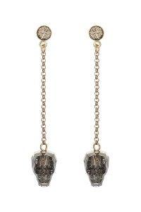 cut glass skull earrings