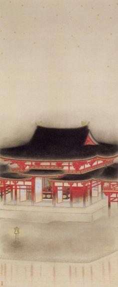 """小林古径(大正10年/1921年) -- Kobayashi ancient path """" mustard """" ( Taisho 10 years / 1921 )"""
