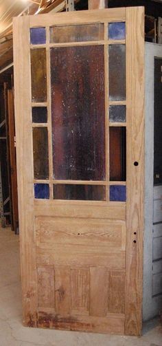 Vintage Fir Door, Queen Anne Style, 13 Lite/Home/Architectural Salvage