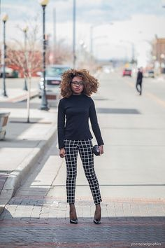 Get in formation in ankle pants worn over mesh ankle socks. An almost all black…