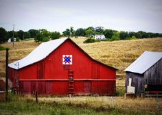 """""""Loose Creek Quilt Barn"""" -- This image is the first in my """"Quilt Barn"""" collection.  The quilt pattern is called """"North Star"""" or """"Sawtooth.""""  (Near Loose Creek, Missouri)   barn art, farm art, rural art http://www.crickethackmann.com"""