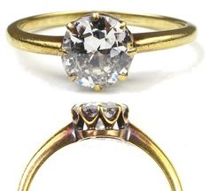 Late 1800's Victorian 1.00 CARAT Old European by ArnoldJewelers, $4000.00