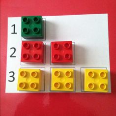 Numeracy: counting with legos- take it a step further this could be used for skip counting, and multiplication or addition patterns, etc. Numeracy Activities, Literacy And Numeracy, Preschool Learning Activities, Kindergarten Math, Learning Numbers, Math Numbers, Lego Programming, Numbers For Toddlers, Skip Counting