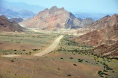 Namibia : road : Between Rosh Pinah and Orange river Land Of The Brave, My Land, Succulent Species, Namibia, Paladin, Africa Travel, Landscape Photos, South Africa, Places To Go