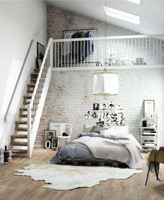 brick bedroom @blogscrush // chambre recup & design