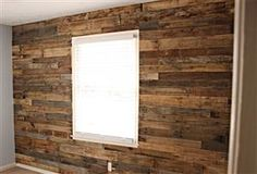 Textured Wood Pallet Accent Wall