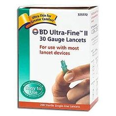 BD Ultra-Fine II 30 Gauge Lancets diabetes *** This is an Amazon Associate's Pin. Detailed product information can be found on the website by clicking the image.
