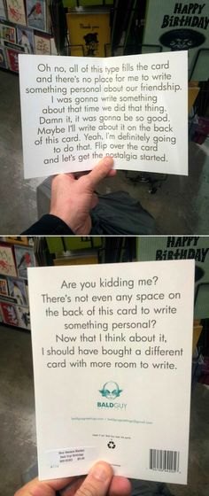 I bought you a card...