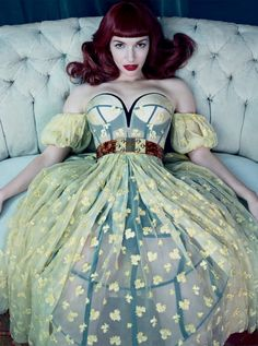 Chrysta Bell wears Alexander McQueen in 'Swing With Me' by Emma Summerton for Vogue Italia, February 2013.