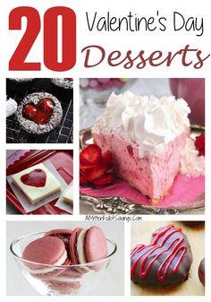 20 Valentine's Day Desserts | http://www.amittenfullofsavings.com/20-valentines-day-desserts/