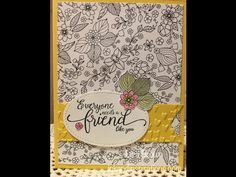 Stampin' Up! card idea and video tutorial, Lisa Brown, Stampin' Up! Demonstrator. inkandinspirations.com