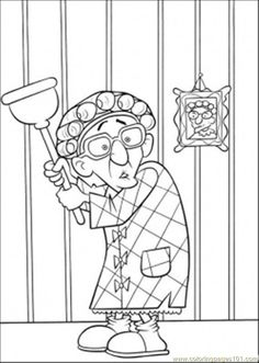printable pictures of grandmothers | free printable coloring page Scared Grandmother (Cartoons ...