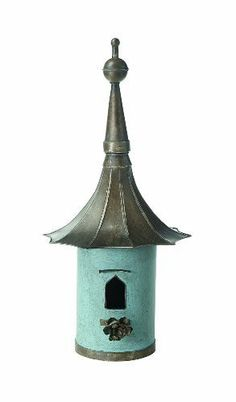 Made of metal Distressed blue with grey roof 15 1/2 Inch in length x 34 Inch tall Additional Details ------------------------------ Binding: Misc. Brand: Creative Co-op Color: Blue, Brown Label: Creat