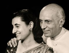 Photograph of Jawaharlal Nehru and Indira Gandhi by Marcel Sternberger, New York, 1949