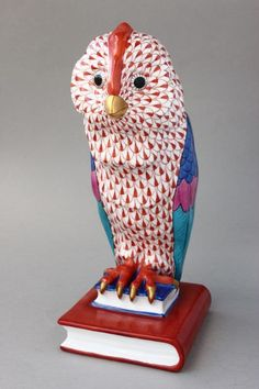 Wonderful Herend Porcelain Owl,  We have this one