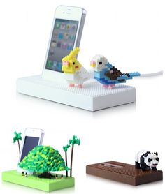 Nanoblocks and iPhone, how hasn't anyone thought of this before? Haha~