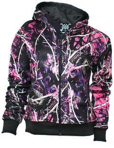Muddy Girl Camo Zipper Hoodie by Moon Shine Attire Size X Small #Clothing #Fashion #Hoodie #Camo