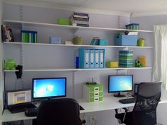 The final result :) Our new home office for two.
