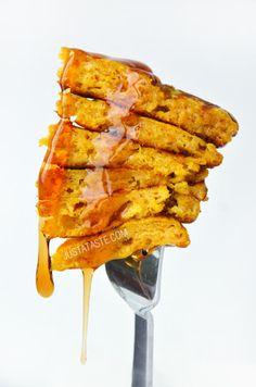 Pumpkin Pie Pancakes | recipe via justataste.com