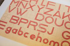 Hidden Treasures: Reconstructing Lost Bauhaus Typefaces | Create    Bauhaus typography is notable for its simple, balanced forms. These hand-drawn sketches, posters, and student work are archived at the Bauhaus school in Dessau, Germany.