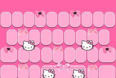 Blush Kitty Go Keyboard Skin *FREEBIE*