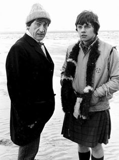 Patrick Troughton as the amazing Second Doctor and Frazer Hines as Jamie McCrimmon in 1968's 'Fury from the Deep', lost from the BBC Archives #doctorwho