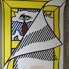 Roy Lichtenstein, Pop Art, comics, original exhibition poster,... (€545) via Polyvore featuring pop art