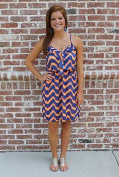 Love this Blue & Orange Dress #Gators