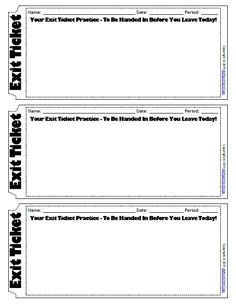 This Product Is Just Another Version Of My Popular Exit Ticket