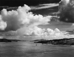 The Golden Gate before the Bridge, California    photo by Ansel Adams, 1933