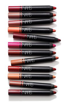 NARS satin lip pencil gives high-impact color with a rich satin finish.