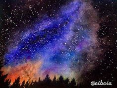 MILKYWAY. No sketching. Watercolor on paper. Painted this morning. Not good enough than my previous spaceart ㅠ_ㅠ ____________________________ #nosketching #painting #art #watercolor #paint #watercolors #galaxy #galactic #space #illustrations #illustration #sky #night #nightsky #star #starrynight #design #indonesian #indonesiangirl #milkyway #koiwatercolor #sakurakoi #sakurakoiwatercolors #canson #intergalactic #draw #drawing #spaceart